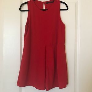 Zara Red Romper (Size S)